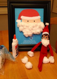 Elf disguises himself as Santa Figgle the elf wants to be just like Santa…beard and all!
