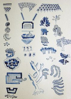 How to draw a Willow Pattern plate: March 2007 Blue Willow China, Blue And White China, Blue China, Love Blue, Pattern Images, Pattern Art, Surface Pattern, Chinese Patterns, Willow Pattern