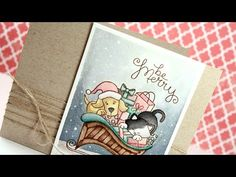 "Holiday Card Series 2014 – Day 17 - YouTube Card by Kristina Werner using ""Christmas Delivery"" Stamp set by Newton's Nook Designs"