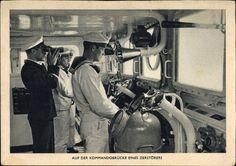 Bridge of a German heavy ship!