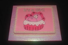 girl baby shower cake in pink. Baby Shower Sheet Cakes, Shower Cakes, Baby Cookies, Baby Shower Cookies, Cute Little Baby, Little Babies, Learning Techniques, Baby Boutique, Cake Decorating