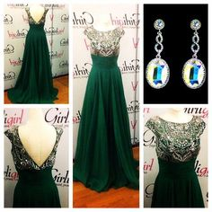 Prepare the senior prom dresses for the upcoming prom? Then you need to see  2015. Beautiful Emerald Green Gown Long Chiffon Beaded Scoop Cap Sleeves Open Back Prom Dresses with Crystal And Pleats in sexydresses and other sexy red prom dresses and short prom dresses under 100 on DHgate.com.