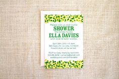 Confetti Bridal Shower Invitation by FMCstudio