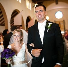 Joe Flacco's wedding this summer. He's one tall dude! Go Ravens! ((look at her ravens bouquet! Wedding Wear, Wedding Couples, Wedding Dresses, Celebrity Couples, Celebrity Weddings, Baltimore Ravens Players, The Wrong Girl, Lucky Ladies, Football Season