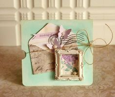This beautiful card by design team member Danielle Flanders combines our Attic Treasures Vol. 3 with the hydrangea paper from our C'est la vie Collection