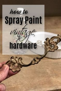 How To Quickly Spray Paint Hardware For Furniture Need to update that furniture hardware? Why not spray paint the hardware to compliment your next painted furniture makeover? Spray Paint Furniture, Diy Kids Furniture, Furniture Repair, Furniture Hardware, Shabby Chic Furniture, Furniture Makeover, Repurposed Furniture, Painted Furniture, Refinished Furniture