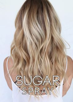 Sugar Sprays are the new it product and the answer for all of you that have been looking for an anti-salt texture spray.  Sugar sprays deliver tousled, sultry waves with a downtown NYC edge all without that crunchy and sometimes stiff feel that comes along with salt and beach sprays. Sugar Sprays are excellent for all hair types…