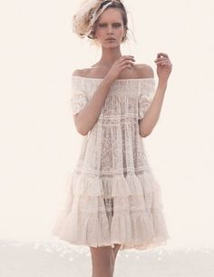 Sweet Off The Shoulder White Lace Dress