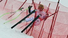 Austria's Klaus Kroell crashes during the Men Super G at the Alpine ski World Cup finals, March 14, 2013 in Lenzerheide, Switzerland. (Fabrice Coffini/AFP/Getty Images)