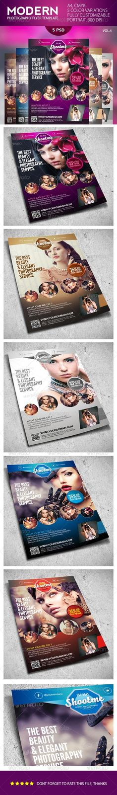 Buy Modern Photography Flyer Template by januar on GraphicRiver. Modern Photography Flyer Template An elegant, professional, simple and ultra-clean layout for your Flyer. Photography Flyer, Photography Logo Design, Modern Photography, Fashion Photography, Free Flyer Templates, Print Templates, Urban Ideas, Simple Portrait, Corporate Flyer