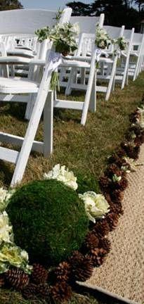 Pine cone aisle (pinecone garland)