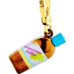 Suntan lotion charm