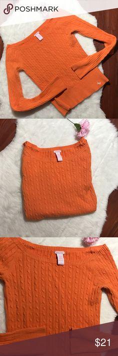 🌟JUST IN🌟 Orange sweater *EUC *Orange knit sweater  *Size large *VL64 Abercrombie & Fitch Sweaters
