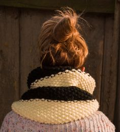 A personal favorite from my Etsy shop https://www.etsy.com/uk/listing/472349330/infinity-scarf-in-black-and-cream