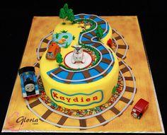 Three. Thomas the Train Birthday Cake
