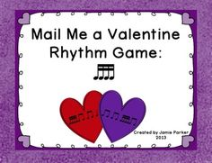Students will stay actively engaged as they practice sixteenth notes in this Valentine's Day themed game. 5 teams race to mail their rhythm valentines the fastest. Tons of fun and great for assessment!