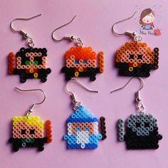 Orecchini mini Hama Beads Harry Potter. Harry Potter characters mini hama beads earrings