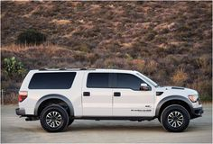 You can now take your family along on your adventure trips with the awesome Hennessey VelociRaptor SUV. This beastly vehicle in fact started off as a Raptor SVT pickup and was transformed into a full-sized SUV with Ford Excursion, Cool Trucks, Cool Cars, Dirt Bike Girl, Girl Motorcycle, Motorcycle Quotes, Large Suv, Old Ford Trucks, Triumph Motorcycles