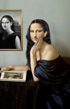 71.) Mona's first painting. It's a self-portrait and so good it out sells even Leonardo's paintings.