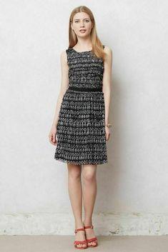 5c4248ed36e17 Anthropologie 9-h15 Stcl Postmark Size S Black White Swiss Dot Ruched Dress  01K #