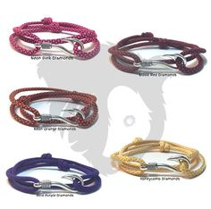1 of 2 Diamond Themed Sets of Adjustable Fish Hook Bracelets. https://www.etsy.com/listing/269210400/diamonds-themed-adjustable-double-wrap #papabearshouse #paracord #paracordporn #paracordbracelet #themes #diamonds #green #yellow #gold #blue #silver #blood #purple #pink #orange #honeycomb #neon #moretocome #alwayssomethingnew #fishhook #fishing #etsy #etsyshop #etsyseller #etsyjewelry #etsystore