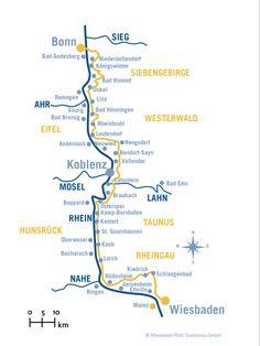 Course of Rheinsteig Trail