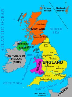 GREAT BRITAIN: England, Wales and Scotland. It is ONE island (the ...