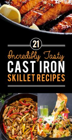 21 Cast Iron Skillet Recipes You Should Try 21 Tasty Cast Iron Skillet Recipes Y. - 21 Cast Iron Skillet Recipes You Should Try 21 Tasty Cast Iron Skillet Recipes You Should Try - Cast Iron Skillet Cooking, Iron Skillet Recipes, Cast Iron Recipes, Skillet Dinners, Cast Iron Chicken Recipes, Skillet Steak, Skillet Cake, Easy Dinners, Recipes