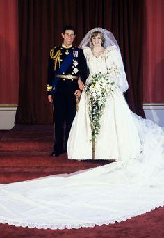 Prince Charles and Diana, Princess of Wales. July 29, 1981.
