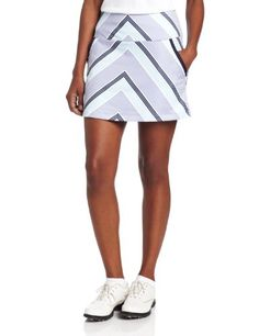 Adidas Golf Women's Archie Strip Knit Skort - List price: $60.00 Price: $19.99 Saving: $40.01 (67%)