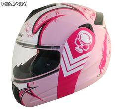 Advanced Hawk Pink Queen Dual Visor Full Face Motorcycle Helmet-JUST ORDERED MY NEW HELMET!