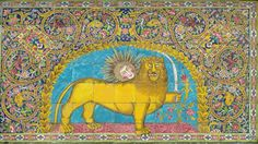 Lion and sun - Golestan Palace - Tehran