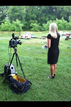 Allie Ware during her morning live shot.