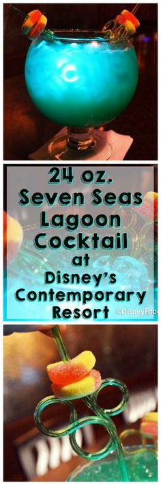 Read our review of the 24 oz. Seven Seas Lagoon Cocktail at  Disney's Contemporary Resort