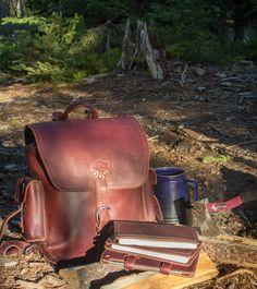 The Saddleback Leather Simple Backpack in Chestnut | 100 Year Warranty | $458.00