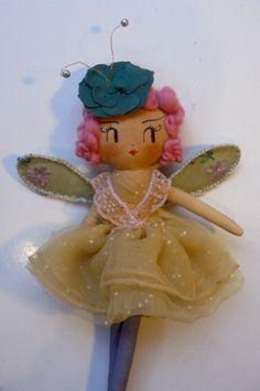 Spring Fairy. One-of-a-kind handmade art doll by CuriousPip