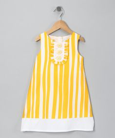 {Yellow Stripe Dress} Infant, $9.99. This retro style is awesome. I wish they had it available in girls' sizes. Cest la vie. Too cute to not pin! ;-)