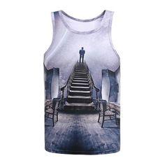 CHAT avec Lunettes de soleil Galaxy Funny Fashion Ladies Vest Tank Top Gym Débardeur Taille Unique