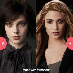 Alice or Rosalie Cullen Tap to vote http://sms.wishbo.ne/U1ak/2te1JAWgdx