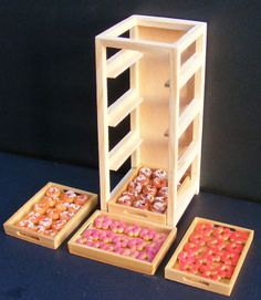 1 12 Scale Full Wooden Cake Shop Tray Rack Dolls House Miniature Baker Accessory | eBay