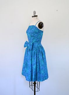 Vintage 1950s Dress // 50s Dress // Watercolor Party Dress.  via Brass Giraffe Vintage on Etsy. shopbrassgiraffe.com
