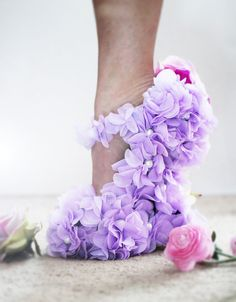 Purple wedge high heels Purple and silver open toe wedge heels