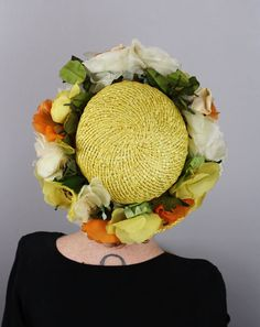 Vintage Sally Victor Hat 1950s Yellow by LivingThreadsVintage, $95.00