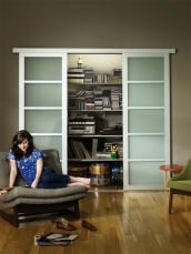 Indoor sliding door, a good alternative to pocket doors.