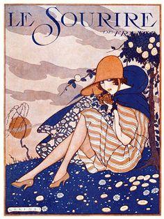 """Illustration by Fabius Lorenzi For Le Sourire 1919 """" Fashion Illustration Vintage, Magazine Illustration, Poster S, Poster Prints, Art Nouveau Pintura, Vintage Prints, Vintage Posters, Art Deco Posters, Art Textile"""