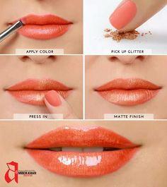 Golden orange lips