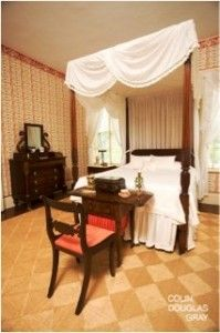 Duncan Phyfe Four Poster Bed at the Andrew Low House — In America, there were many designers who worked in the various neoclassical styles. One cabinetmaker that stands out is Duncan Phyfe. He was very influential in the early nineteenth century furniture world, and he has been ever since.