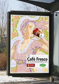 CITY MAP, Cold Takeaway Coffee, FHV BBDO Amsterdam, Cafe Fresco, Print, Outdoor, Ads