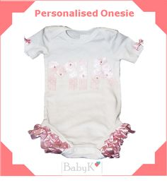 Personalised Onesie from BabyK. Cute Little Baby, Little Babies, Custom Made, Onesies, Girls, Outfits, Clothes, Fashion, Toddler Girls
