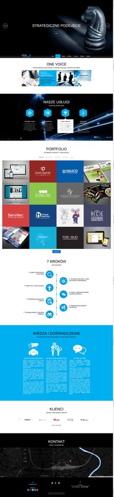 One Page responsive layout with portfolio module